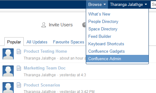 Install Creately plugin for Confluence