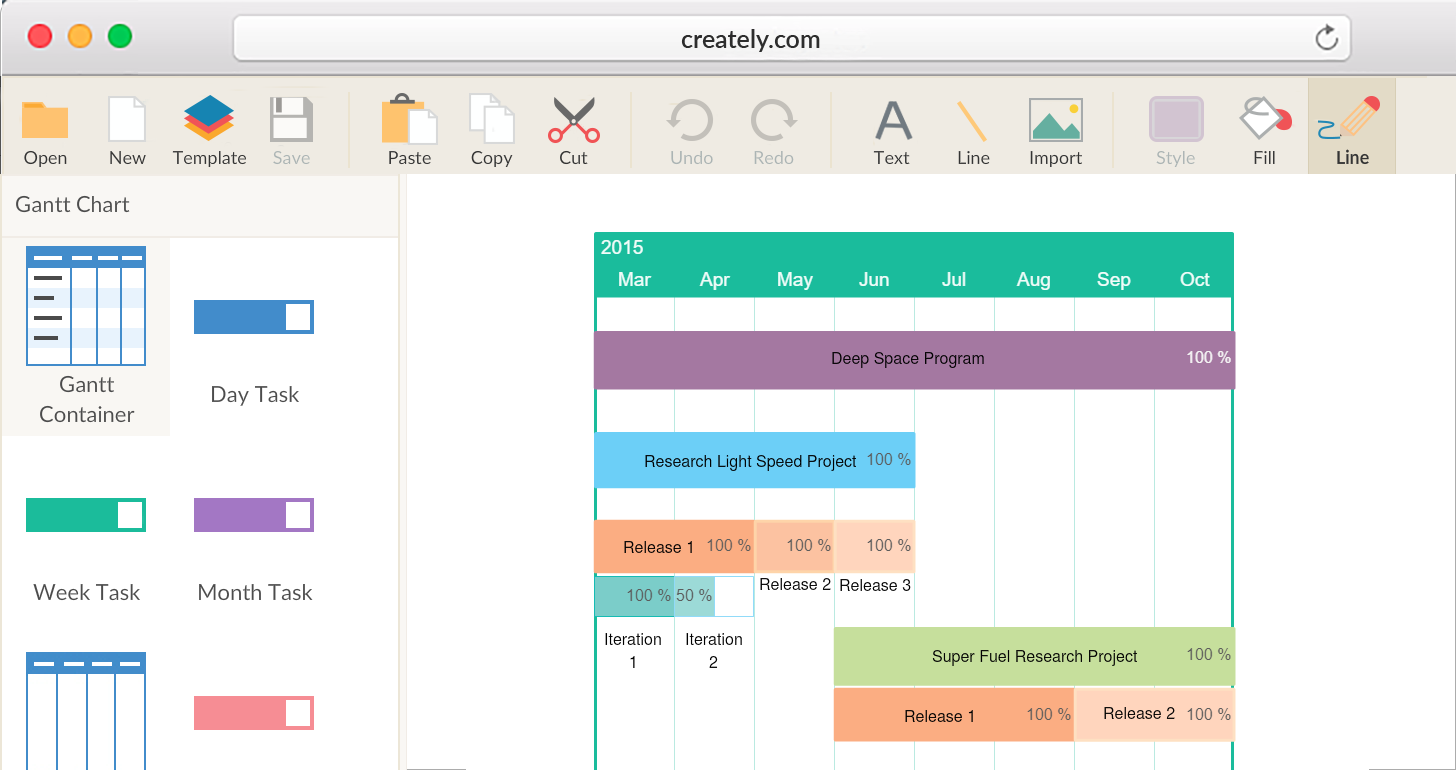 Gantt Chart Software to Draw Simple Gantt Charts | Creately