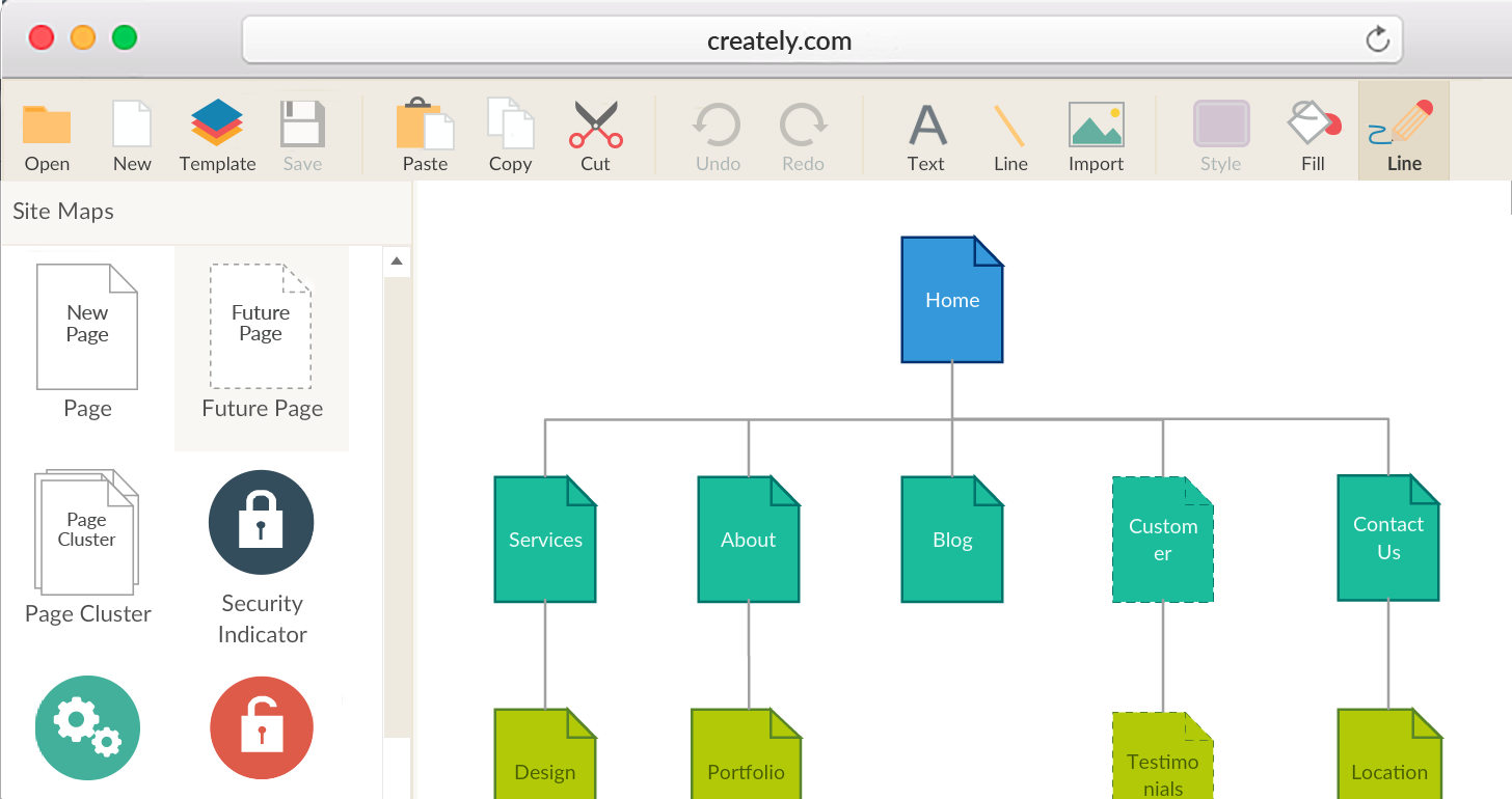 Visual Sitemap Generator to Create Sitemaps Visually | Creately