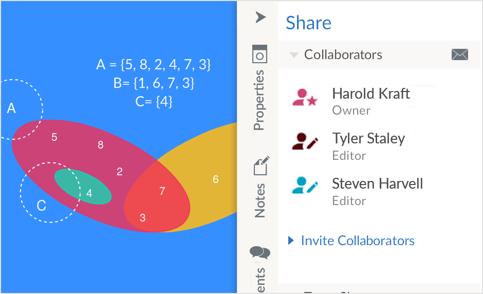 Draw Your Venn Diagrams with Real-Time Collaboration
