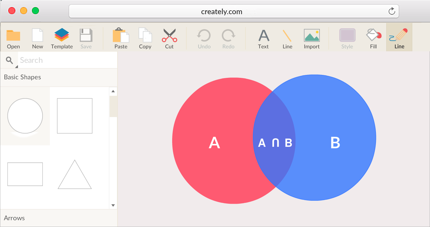 Venn diagram maker online tool to create and download venn venn diagram maker with venn diagram templates to get started ccuart Gallery