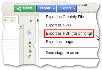 Choose a suitable export option
