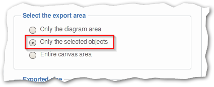 Option to export only the select objects