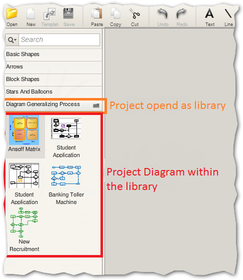 The project is open as a library in the editor