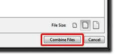 Click the Combine Files button