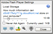 Flash player settings inside Creately app