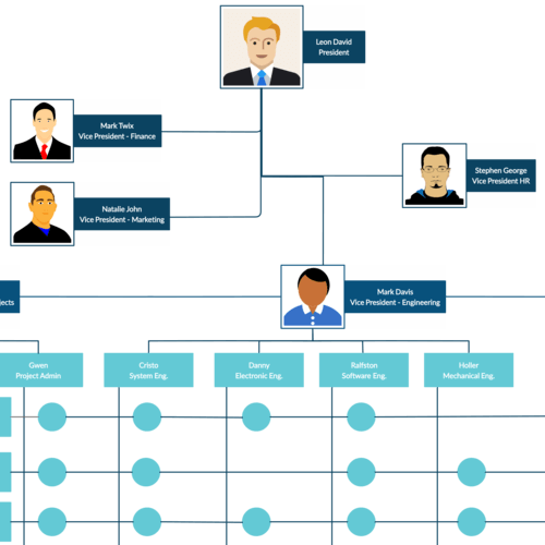 Matrix Structure Organizational Chart