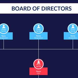 Corporate Org Chart with Board of Directors