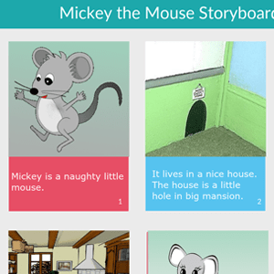 Mickey the Mouse Storyboard