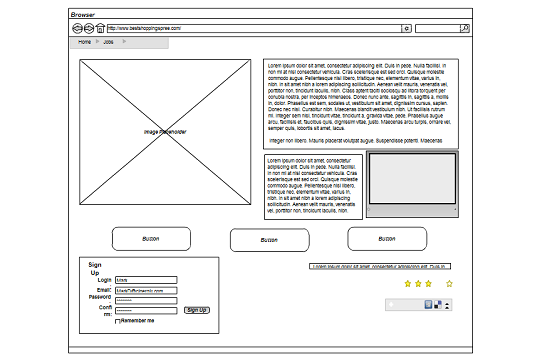 First a Sitemap then a Wireframe, right? Why not both, at once ...