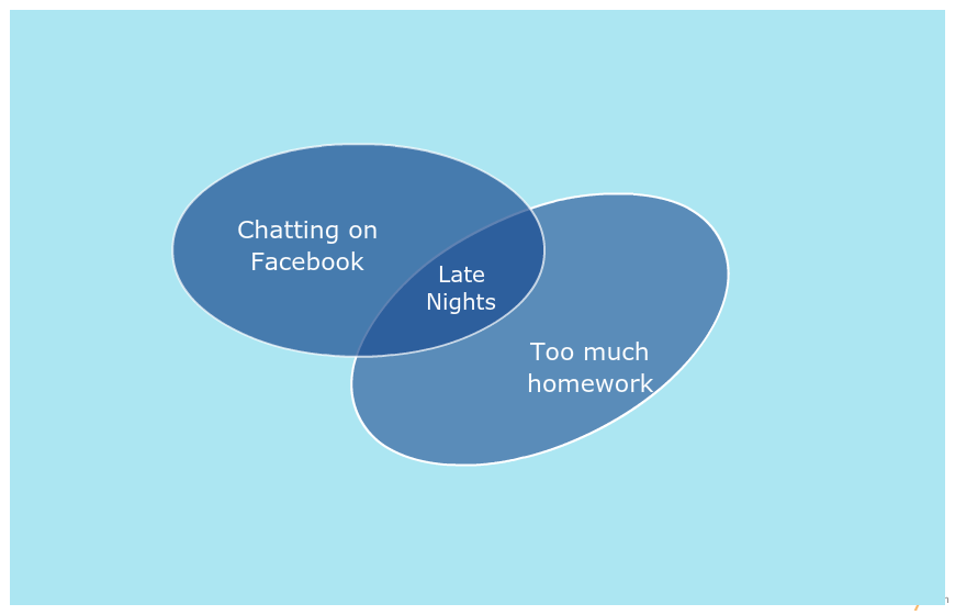 Venn Diagram Template on Student Behavior