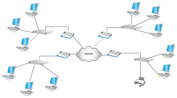 Network diagram templates at Creately includes network topology