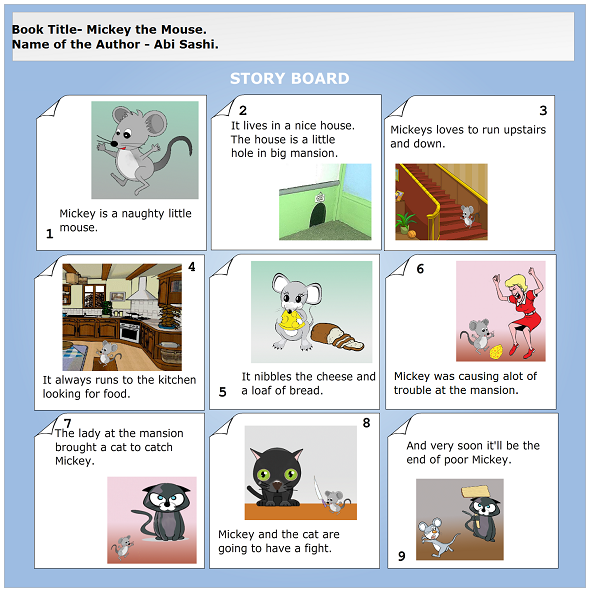 making a storyboard Promote safe driving: a creative psa project in this lesson make a class set of the psa storyboard graphic organizer and psa storyboard rubric printable.