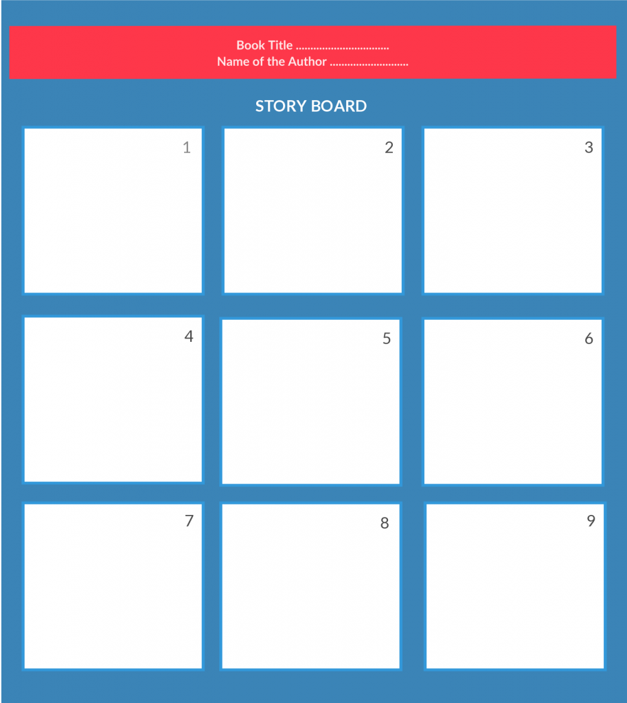Storyboard template for students