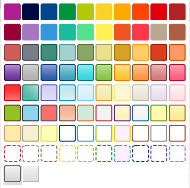 The new color palette