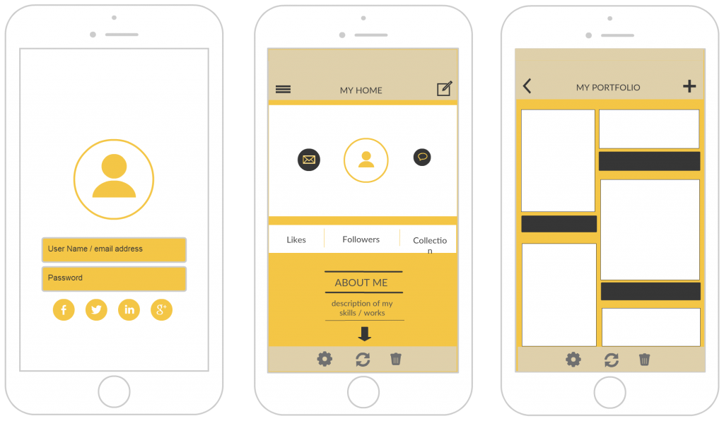 Iphone mockup templates to design iphone applications for Designing an iphone app