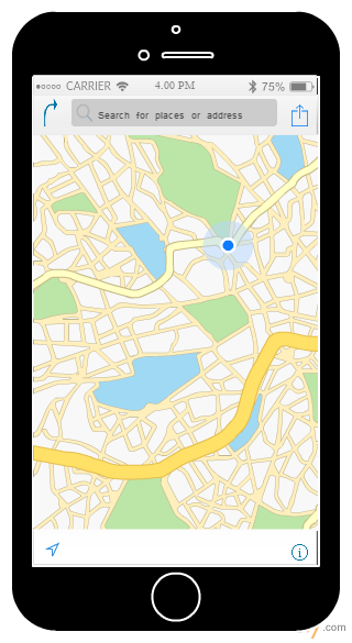 iPhone Location Map Template
