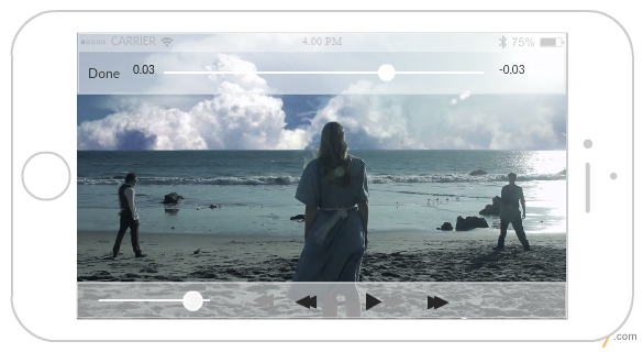 iPhone Video Player Mockup