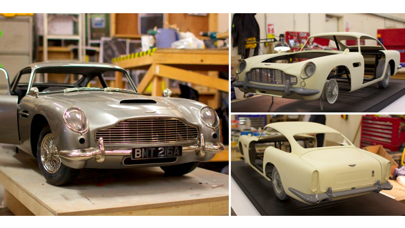 The 3D printed Aston Marting used in Jamed Bond