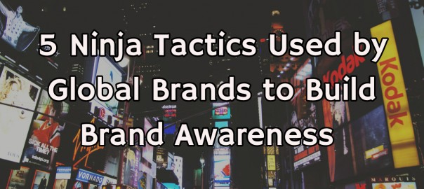 Tactics used by global brands to build brand awareness