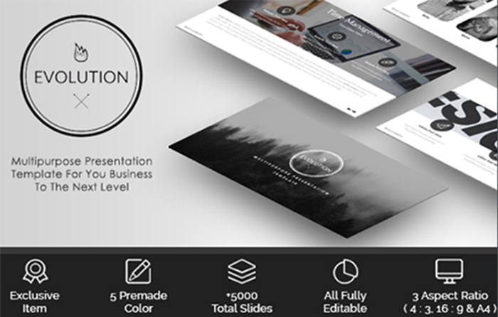 Evolution - business presentation template