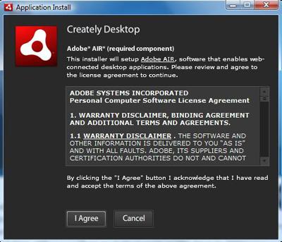 Creately Desktop license agreement