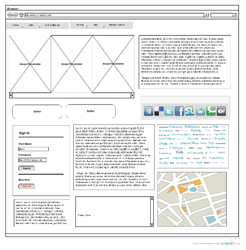 Visio Site Map Examples: Linkable Wireframes & UI Mockups