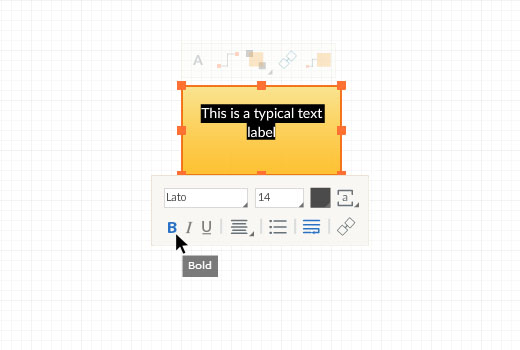 Text Edit Toolbar - Text position