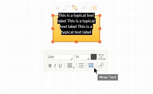 Edit Text Toolbar - Wrap text