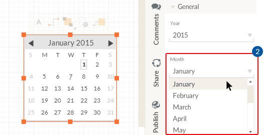 Calendar object properties