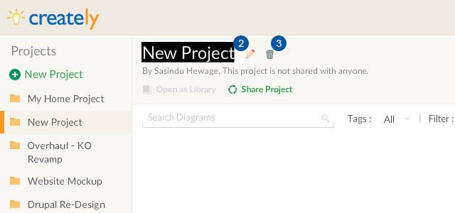 Rename a project