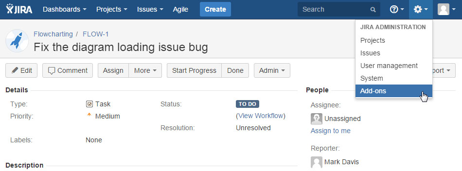 Install Creately plugin for JIRA
