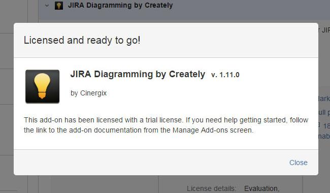 JIRA has been licensed