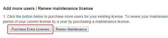 Purchase Extra Licenses