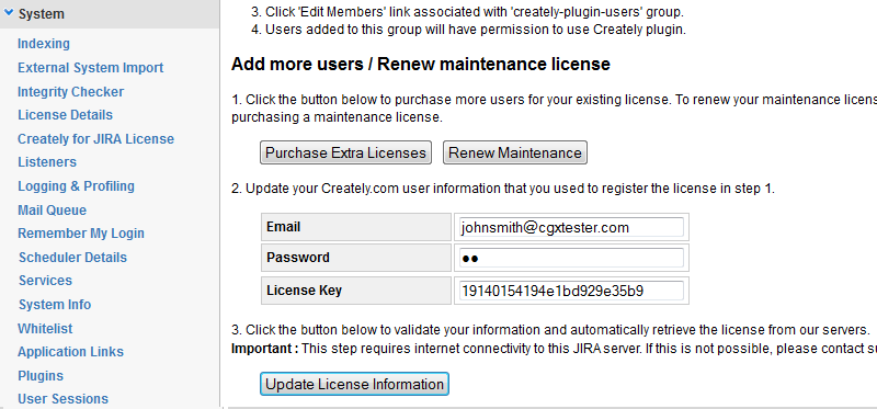 Update License information