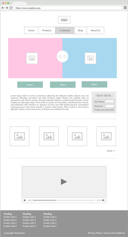 Online Wireframe Software And Ui Mockup Tool Creately