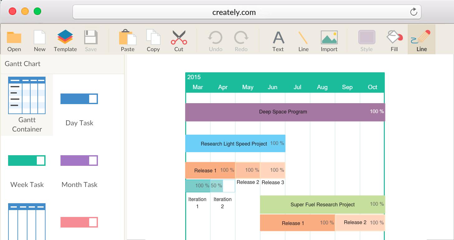 Gantt Chart Software to Draw Simple Gantt Charts | Creately